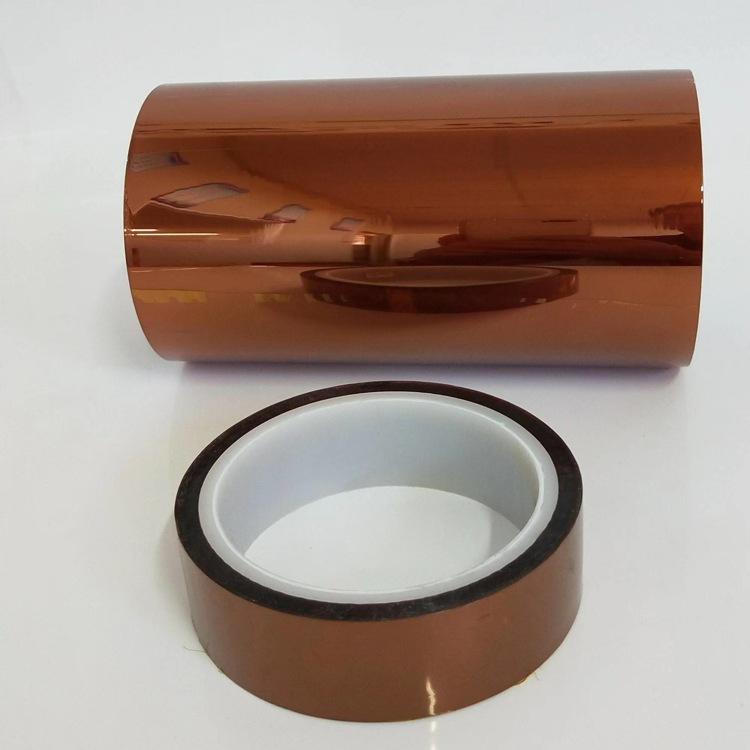 双面防静电茶色聚酰亚胺薄膜胶带硅胶PI金手指胶带